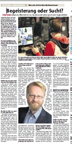 Interveiw mit Johannes Wentzel in der Dorstener Zeitung