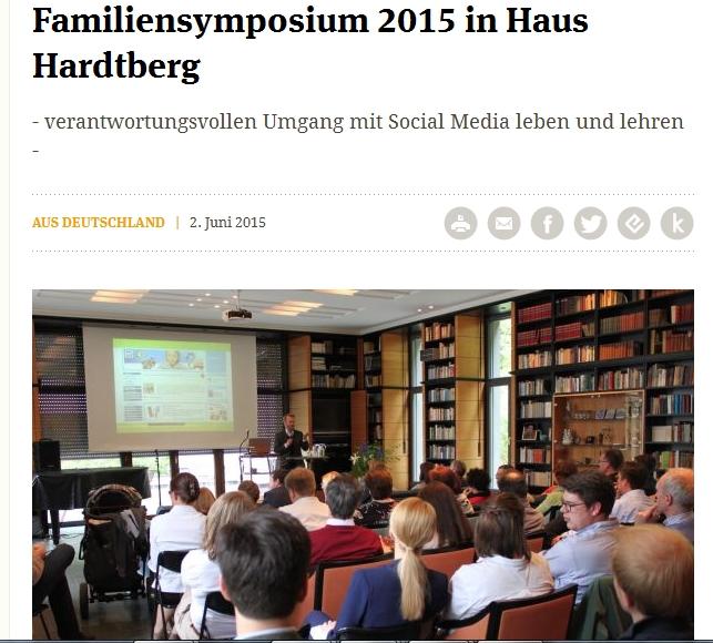Familiensymposium 2015 in Haus Hardtberg Johannes Wentzel