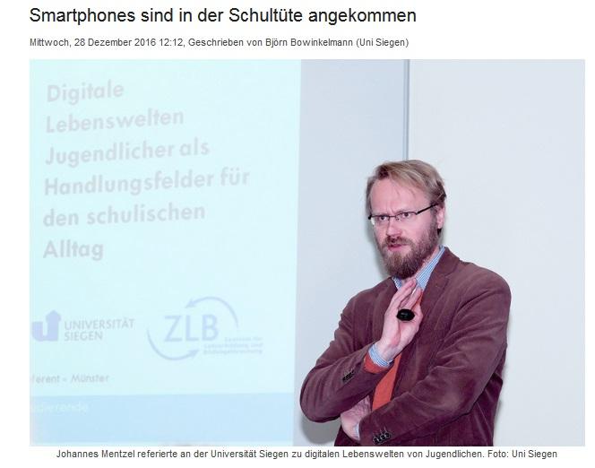 Lehrerausbildung Medien Siegen Wentzel