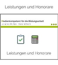 Leistungen und Honorare -Johannes Wentzel-Medienkompetenz für die Bildungsarbeit