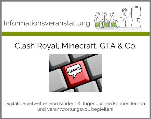 Clash Royal Minecraft GTA Co Medienkompetenz Für Die - Minecraft gta spiele