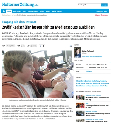 Medienscout-Ausbildung mit Johannes Wentzel