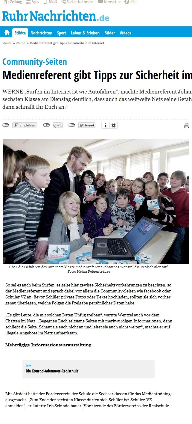 Medientraining Werne Johannes Wentzel